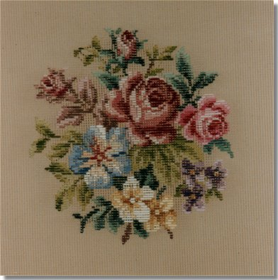 Beverley Trammed Tapestry:  Small floral spray #2