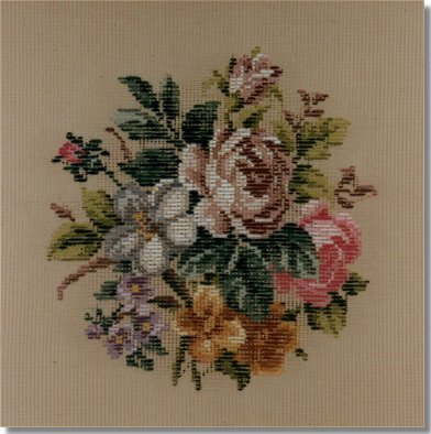Beverley Trammed Tapestry:  Small floral spray #3