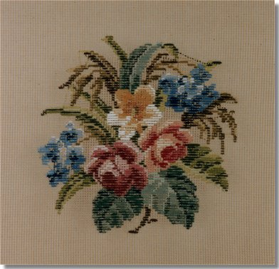 Beverley Trammed Tapestry:  Small floral spray #4