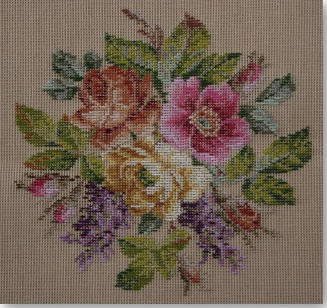Beverley Trammed Tapestry:  Lilac & Rose Bouquet