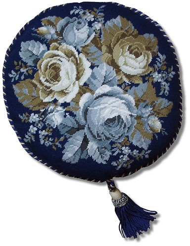 Beverley Trammed Tapestry: Grey and White Cabbage Rose
