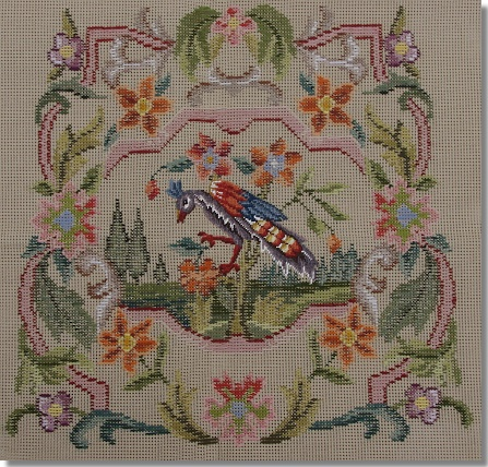 Beverley Trammed Tapestry: Chippendale Chair Seat with Petit Point #2