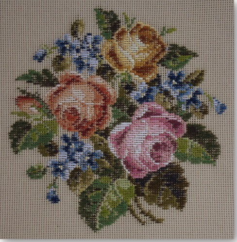 Beverley Trammed Tapestry:  Rose Posy