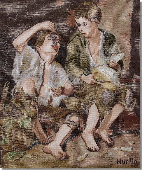 Beverley Trammed Tapestry: The Grape Eaters