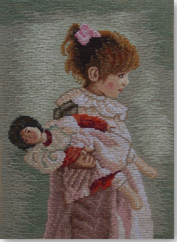 Beverley Trammed Tapestry:  Isabelle with Doll