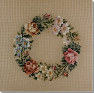 Beverley Trammed Tapestry:  Rose Wreath