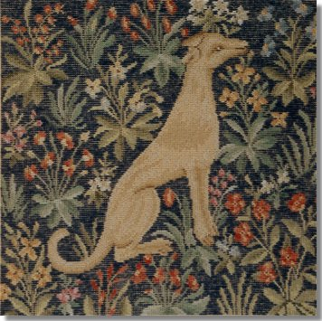 Beverley Trammed Tapestry:  Cluny Dog