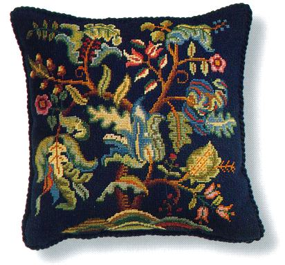 Beverley Trammed Tapestry: Jacobean Cushion #2