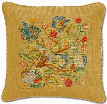 Beverley Trammed Tapestry: Jacobean Cushion #3