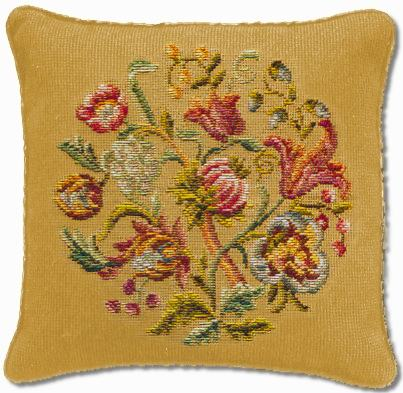 Beverley Trammed Tapestry: Jacobean Cushion #4