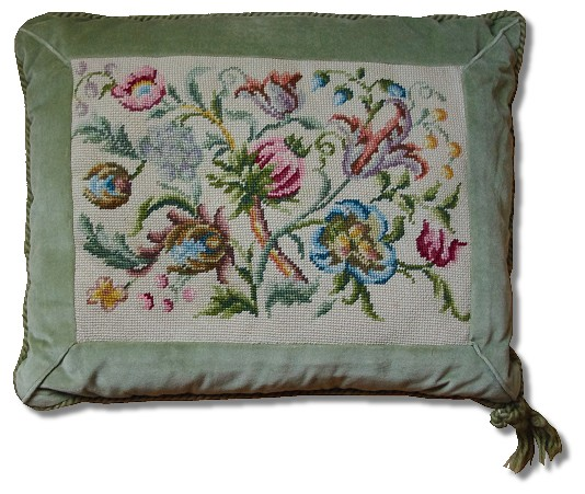 Beverley Trammed Tapestry: Jacobean Cushion # 5