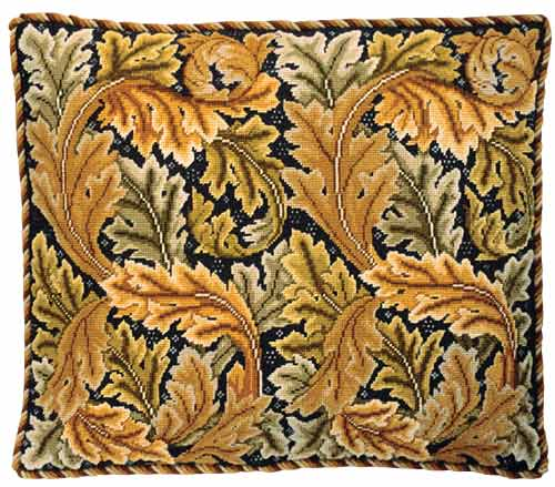 Beth Russell Acanthus Leaves Cushion / Chair Seat Tapestry Kit - Gold