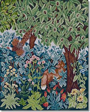 Beth Russell Fox and Pheasant Tapestry Kit