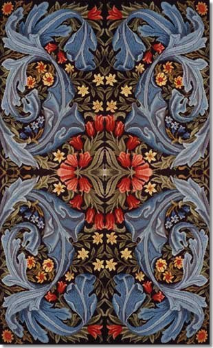 Beth Russell William Morris Panel Tapestry Rug Kit