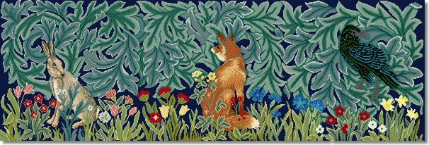 Beth Russell 'Hare, Fox and Raven' Tapestry Kit