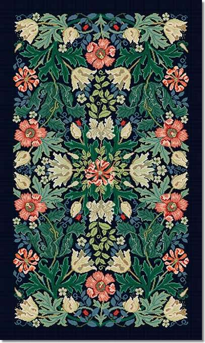 Beth Russell Compton Tapestry Rug Kit - Blue