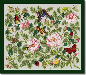 Beth Russell Rose Garden Tapestry Rug Kit - Light Grey