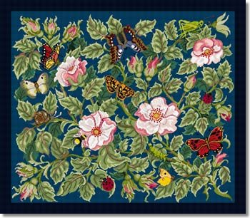 Beth Russell Rose Garden Tapestry Rug Kit - Blue