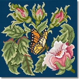 Beth Russell Rose Garden 'Butterfly' Tapestry Kit - Blue