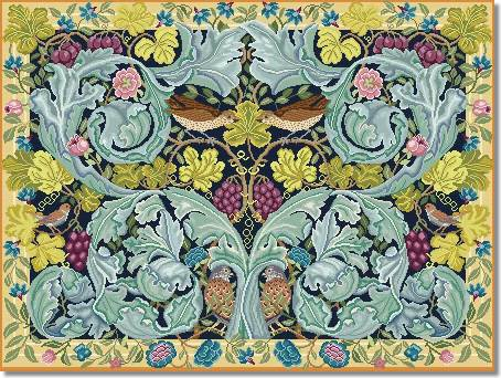 Beth Russell Acanthus and Vine Tapestry Hanging Kit