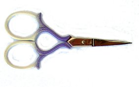 Coloured Scissors - Milanese style - White with Purple