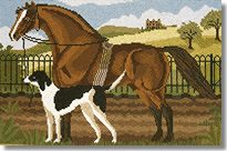 Elizabeth Bradley: Suffolk Punch and a Hound Tapestry Kit