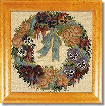 Elizabeth Bradley: A Garland of Pansies Tapestry Kit