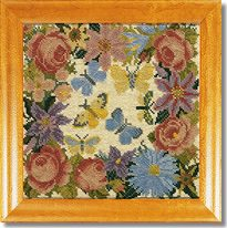 Elizabeth Bradley: Clematis, Roses and Butterflies Tapestry Kit