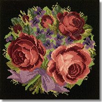 Elizabeth Bradley: Violets and Roses Tapestry Kit