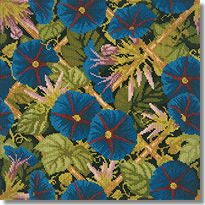 Elizabeth Bradley: Morning Glory Trellis Tapestry Kit