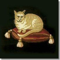 Elizabeth Bradley: The Cream Cat Tapestry Kit