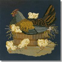 Elizabeth Bradley: The Mother Hen Tapestry Kit