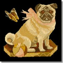 Elizabeth Bradley: Toby the Pug Tapestry Kit