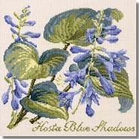 Elizabeth Bradley: Hosta Blue Shadows Tapestry Kit