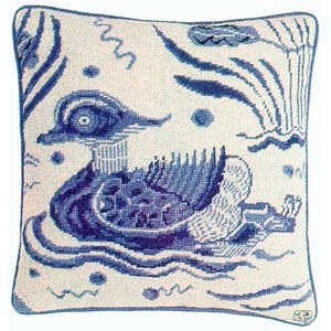 Fine Cell Work Tapestries 'Blue Duck' Left Facing