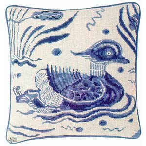 Fine Cell Work Tapestries 'Blue Duck' Right Facing