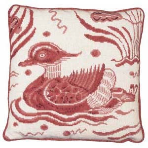 Fine Cell Work Tapestries 'Pink Duck' Left Facing