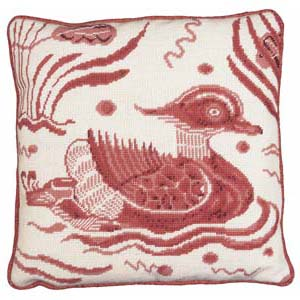 Fine Cell Work Tapestries 'Pink Duck' Right Facing