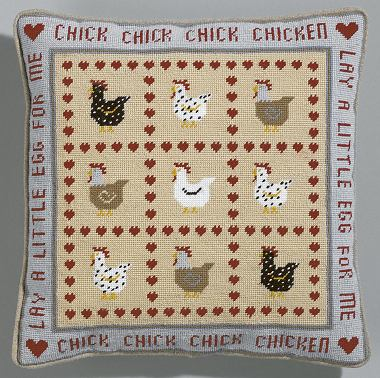 The Historical Sampler Company: Chick Chick Chicken Tapestry Kit