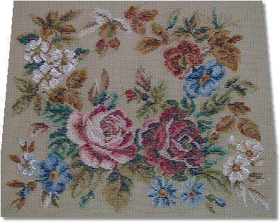 Ivo Tapestries - Floral Chair Seat with Roses