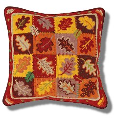 Jolly Red Autumn Leaves Tapestry Kit