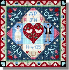 Jolly Red Congratulations Tapestry Sampler