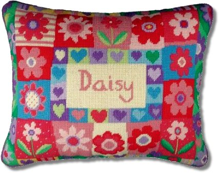 Jolly Red Daisy Tapestry Sampler
