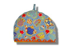 Jolly Red 'Teatime' Tapestry Teapot Cosy
