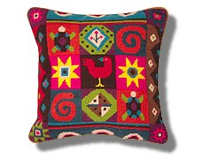 Jolly Red African Tiles Tapestry Kit