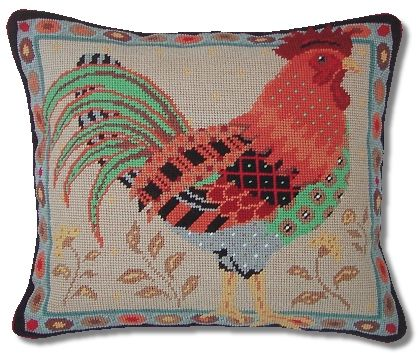 Jolly Red Old English Cockrel Tapestry Kit
