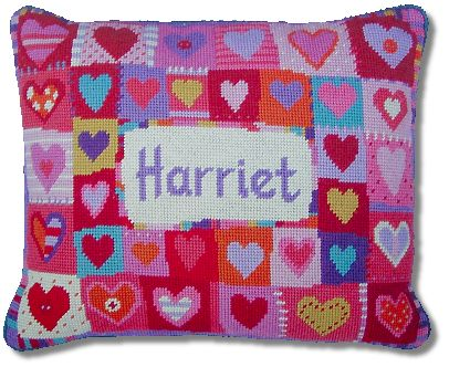 Jolly Red 'Love Hearts' Tapestry Kit