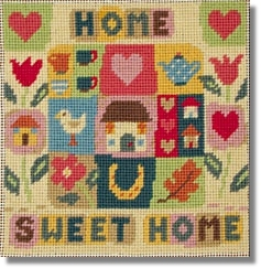 Jolly Red 'Home Sweet Home' Tapestry Kit