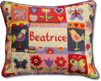 Jolly Red 'Butterflies Sampler' Tapestry Kit