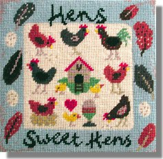 Jolly Red 'Hens Sweet Hens' Tapestry Kit